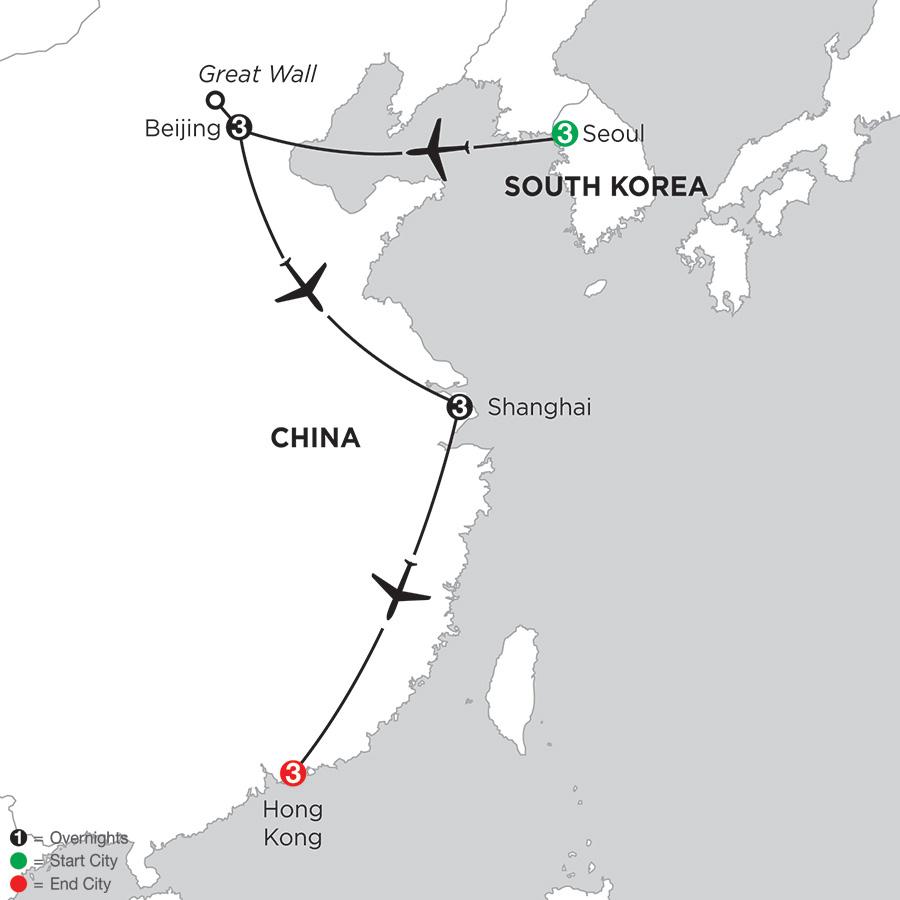 Seoul, Beijing, Shanghai & Hong Kong