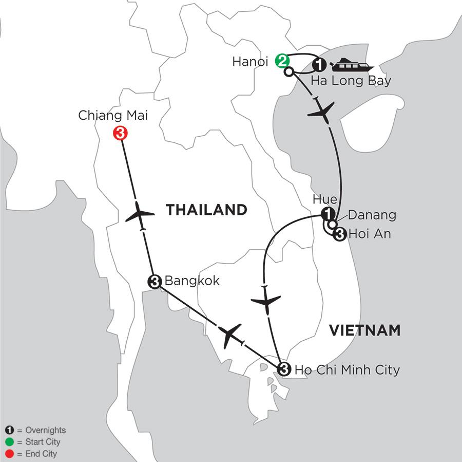 Enchanting Vietnam with Bangkok & Chiang Mai