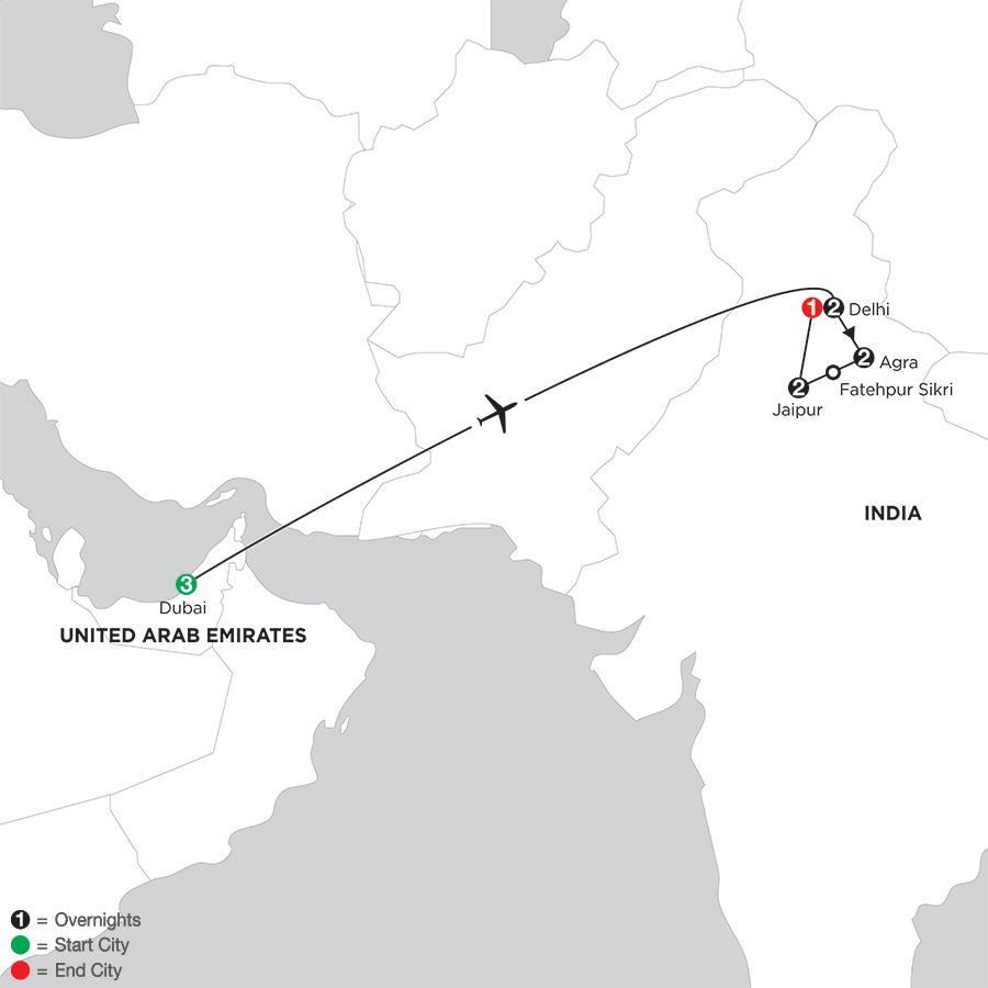 India's Golden Triangle with Dubai