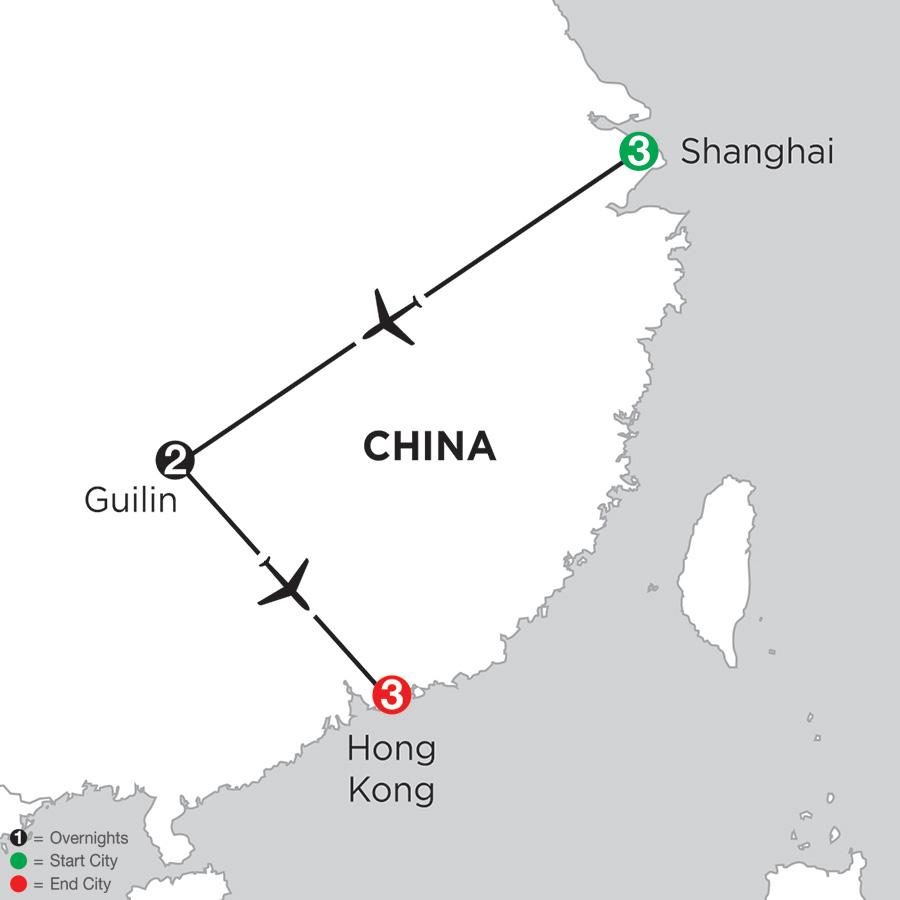 Shanghai, Guilin & Hong Kong
