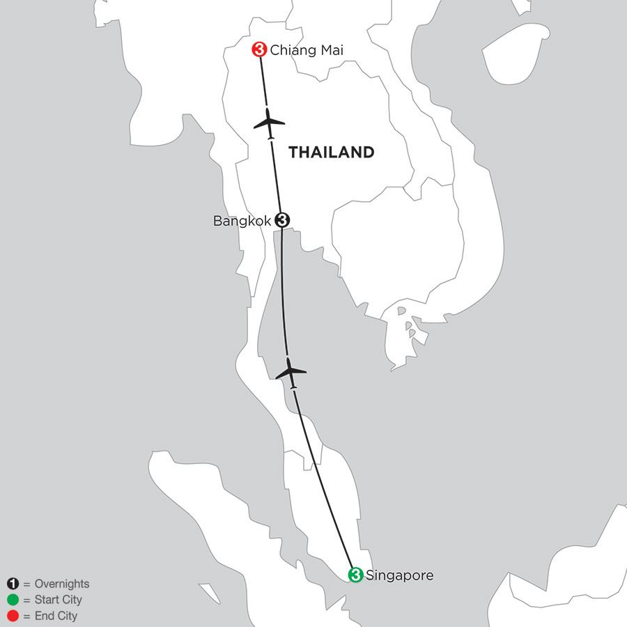 Singapore, Bangkok & Chiang Mai