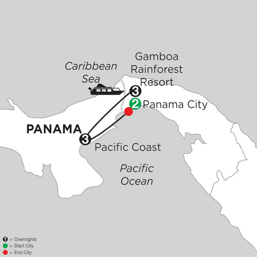 Best of Panama with Pacific Coast