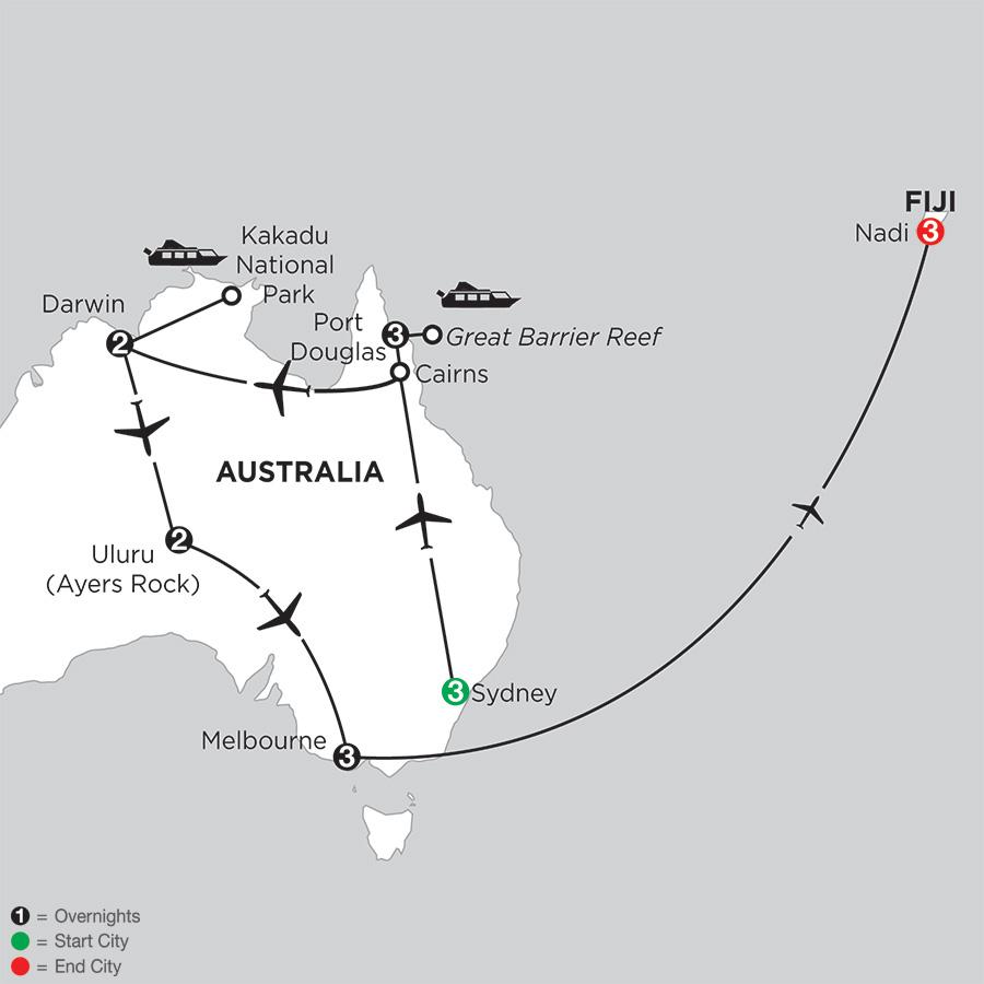 Wonders of Australia with Fiji