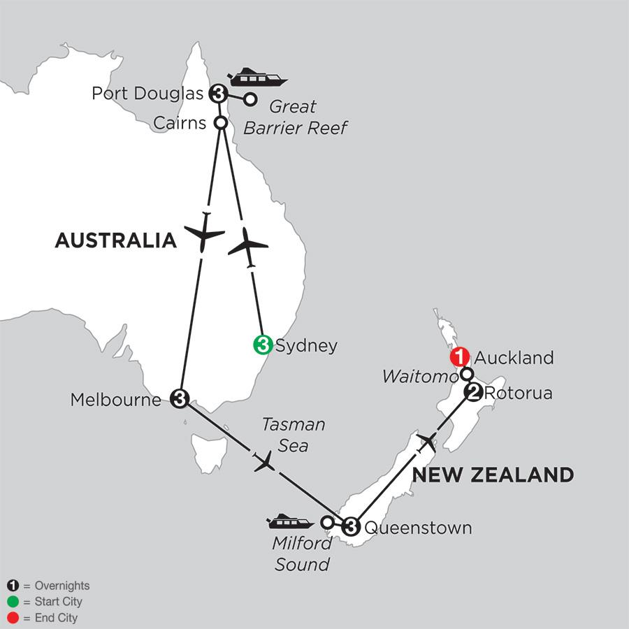Australian Explorer with Queenstown & Rotorua
