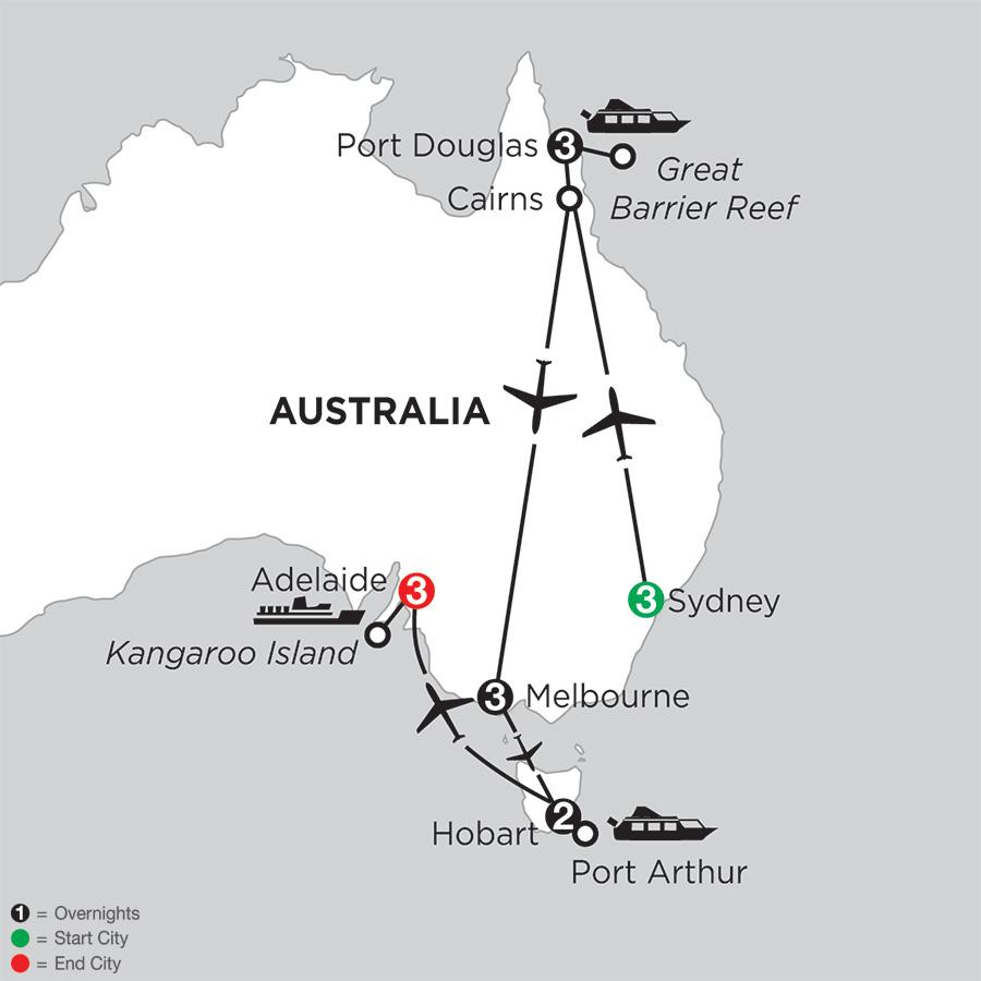 Australian Explorer with Hobart & Adelaide