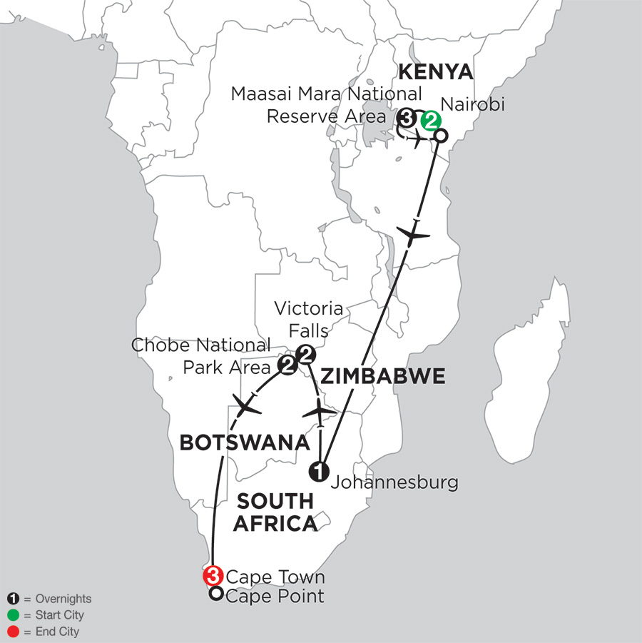 Jewels of Africa with Nairobi & Chobe National Park Area