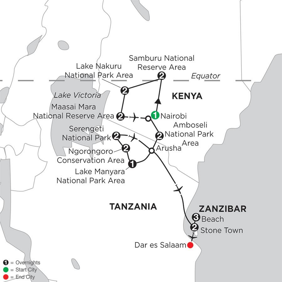 Kenya & Tanzania Private Safari with Zanzibar – Stone Town & Beach Stay