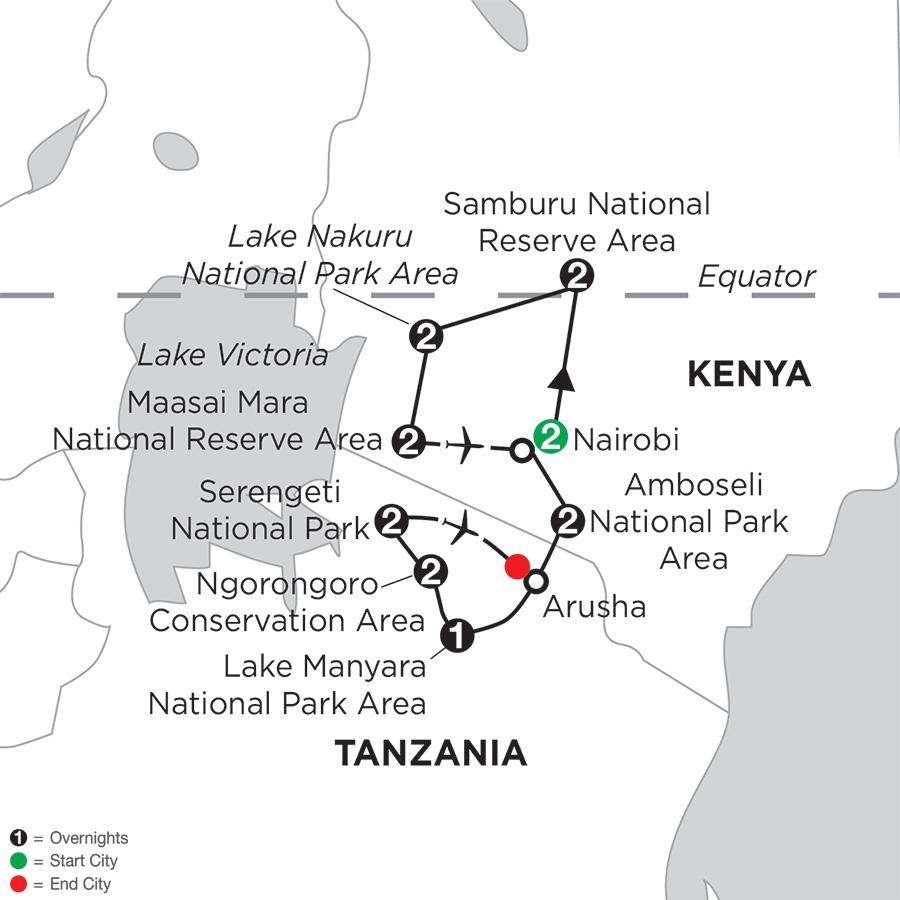 Kenya & Tanzania Private Safari with Nairobi