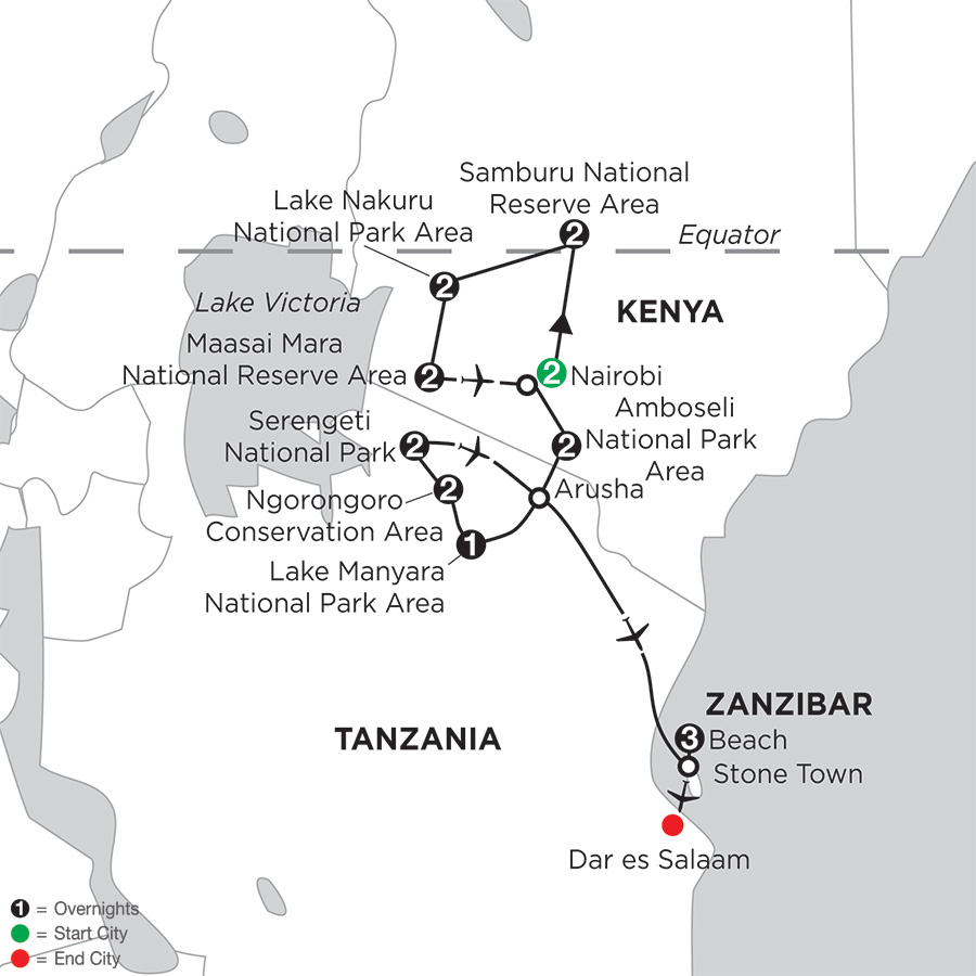Kenya & Tanzania Private Safari with Nairobi & Zanzibar – Beach