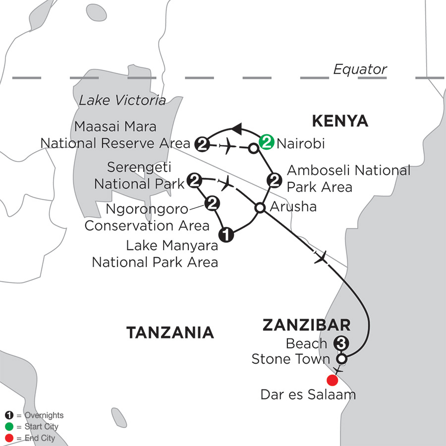 East Africa Private Safari with Nairobi & Zanzibar – Beach