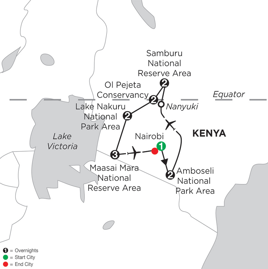 Kenya Private Safari with Amboseli National Park Area & Samburu National Reserve Area
