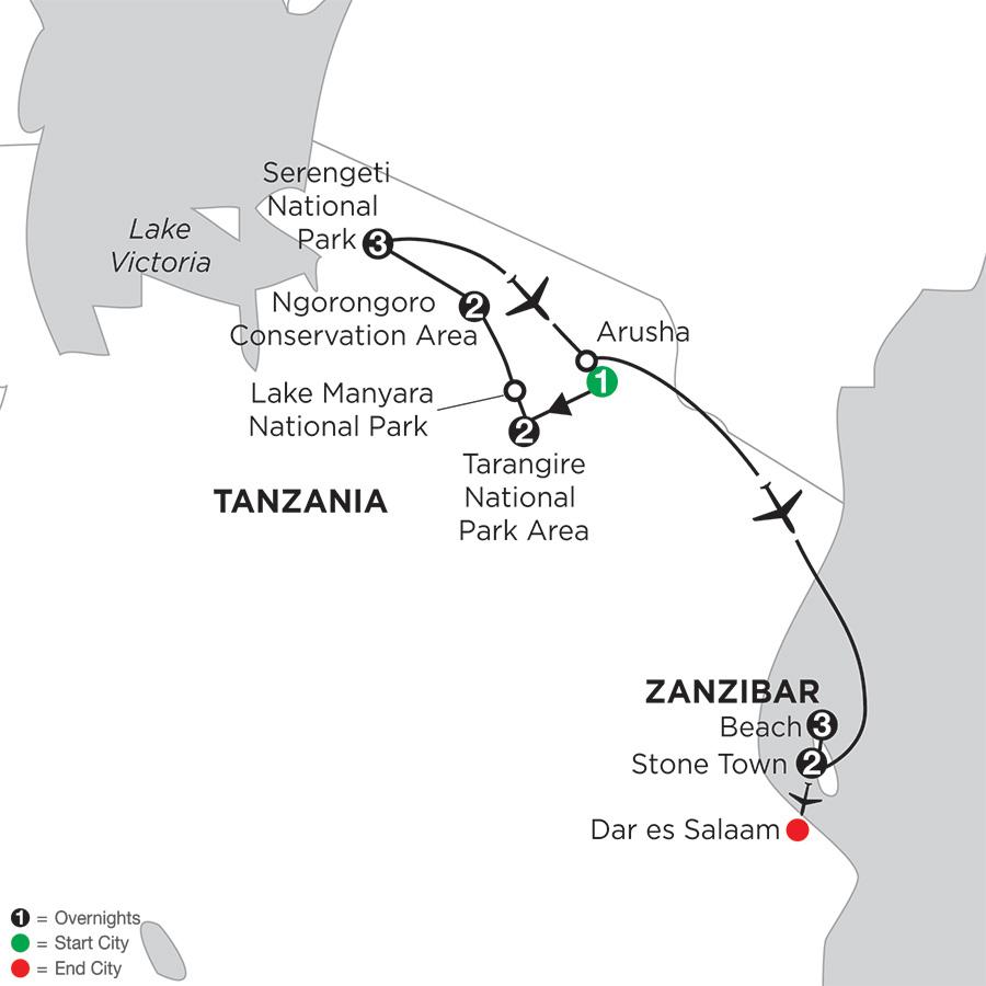 Tanzania Private Safari with Zanzibar – Stone Town & Beach Stay