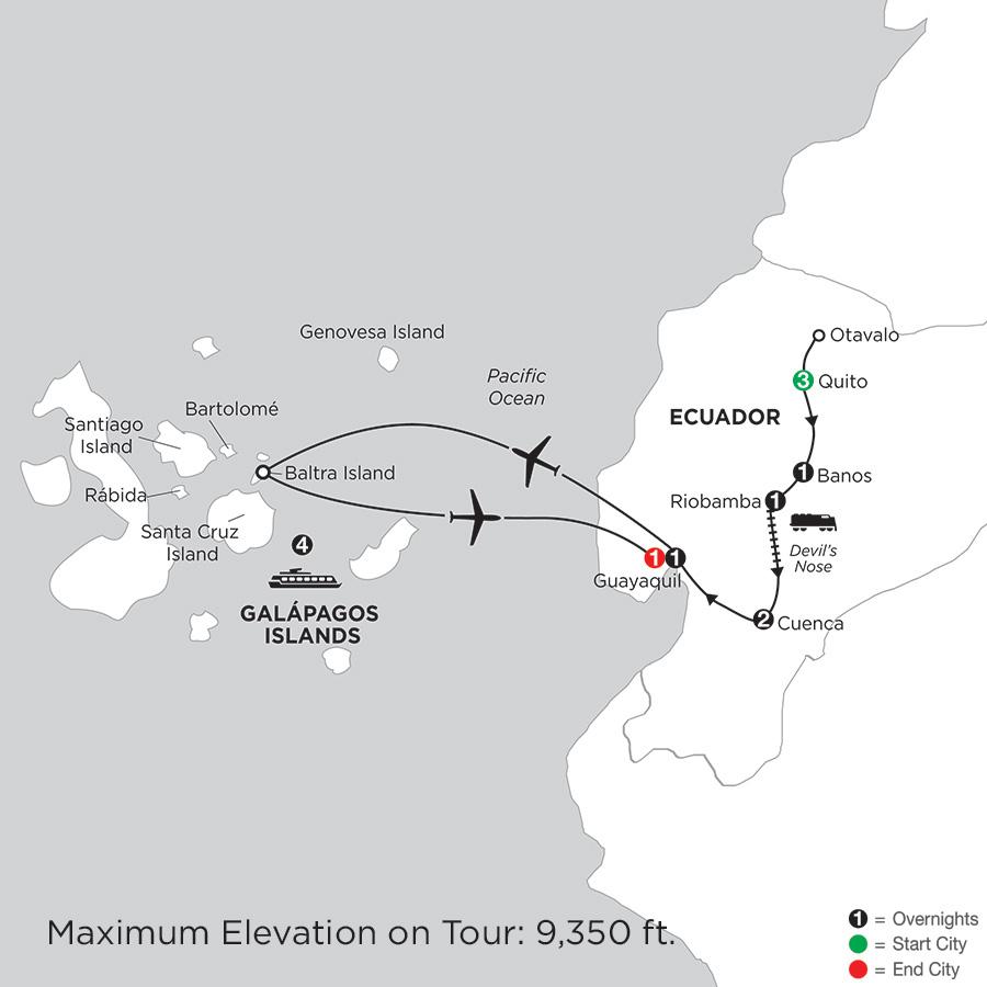 Ecuador Discovery with Galápagos Cruise on the Santa Cruz II