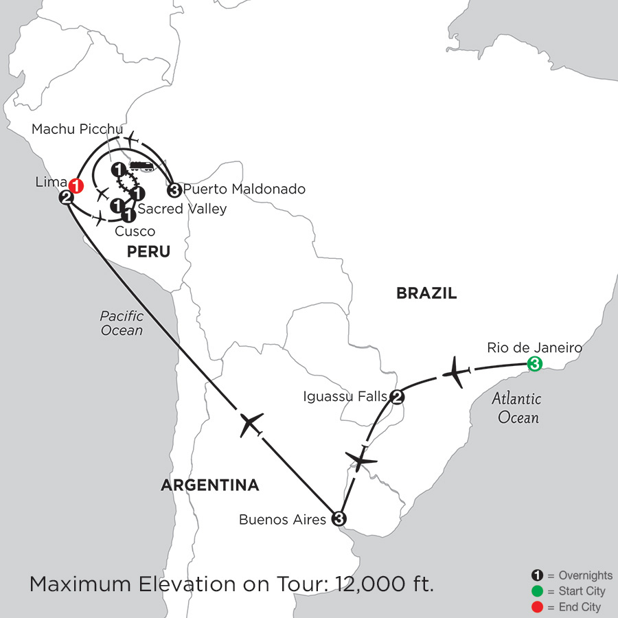 Grand Tour of South America with Perus Amazon