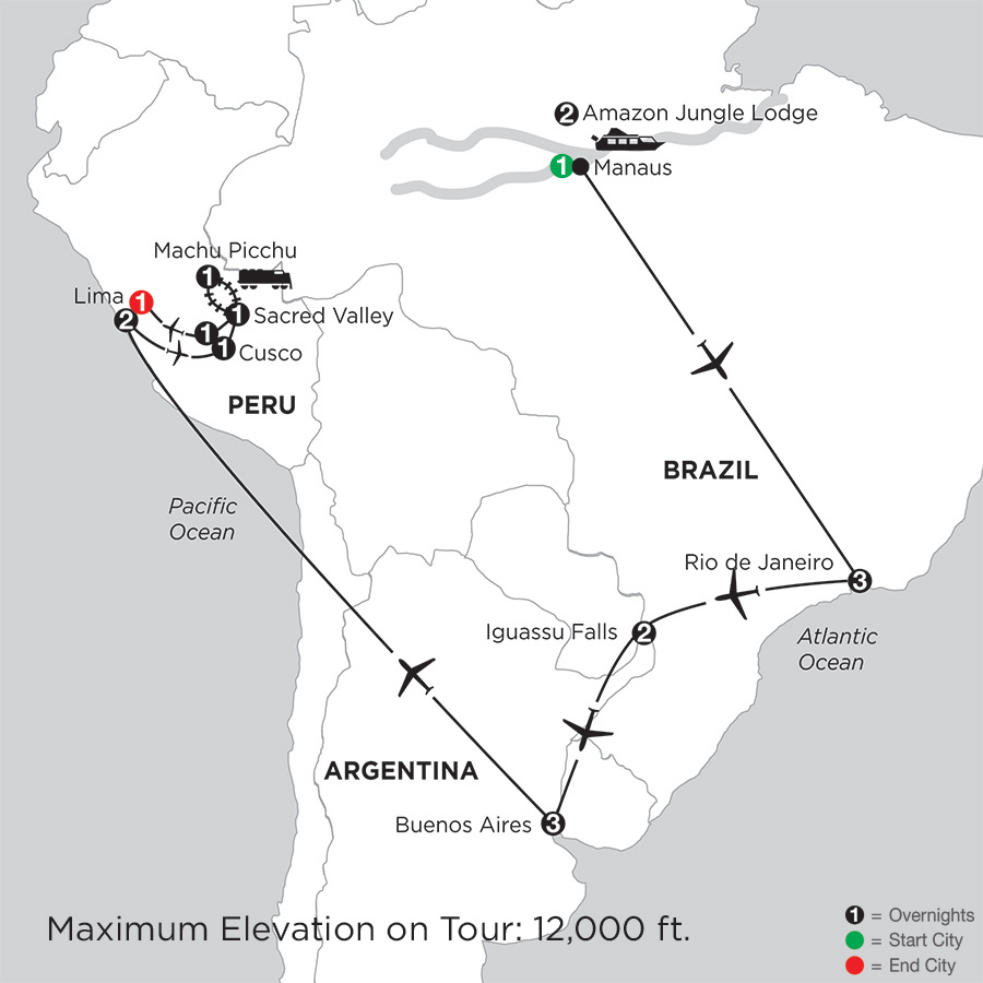 Grand Tour of South America with Brazils Amazon