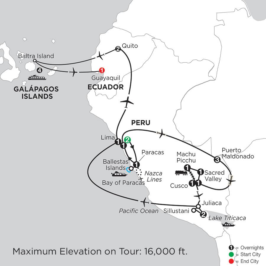 Andean Explorer with Perus Amazon & the Galápagos on the Santa Cruz II