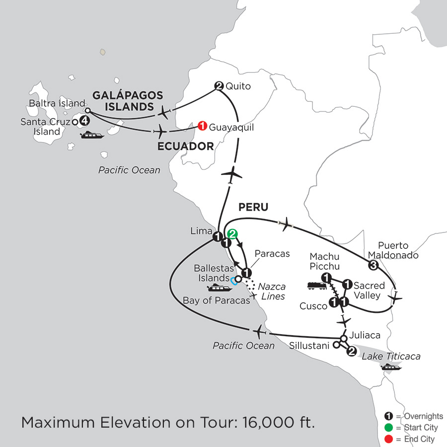 Andean Explorer with Perus Amazon & the Finch Bay in the Galápagos