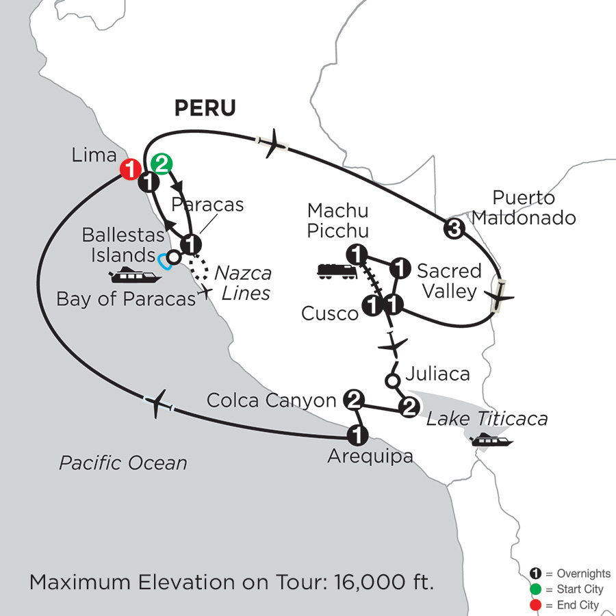 Andean Explorer with Perus Amazon, Arequipa & Colca Canyon