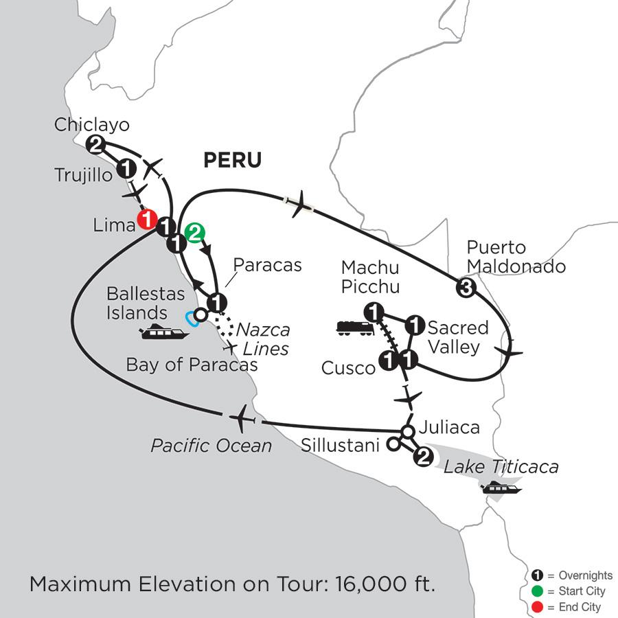 Andean Explorer with Perus Amazon, Chiclayo & Trujillo