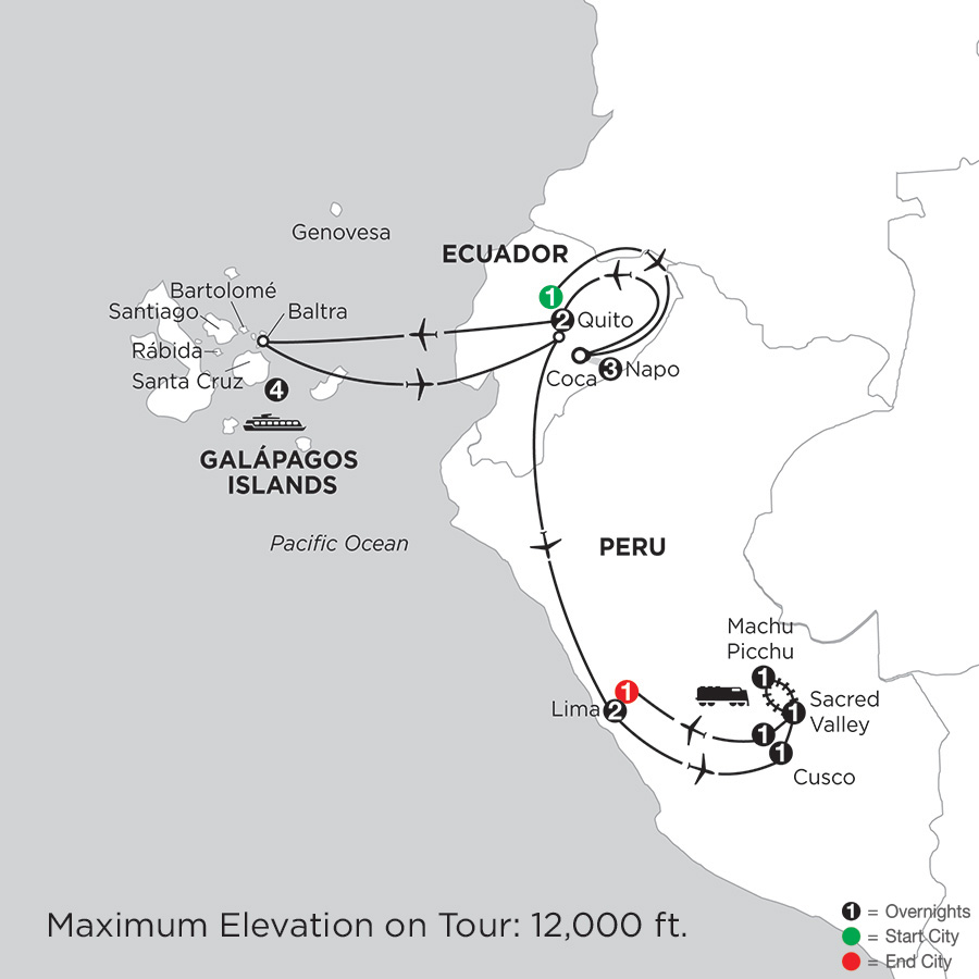 Cruising the Galápagos on board the Santa Cruz II with Peru & Ecuadors Amazon