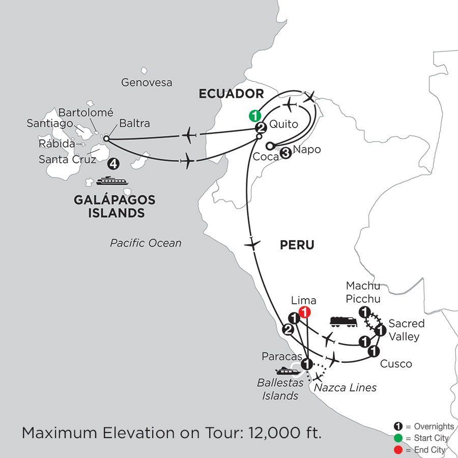 Cruising the Galápagos on board the Santa Cruz II with Peru, Ecuadors Amazon & Nazca Lines