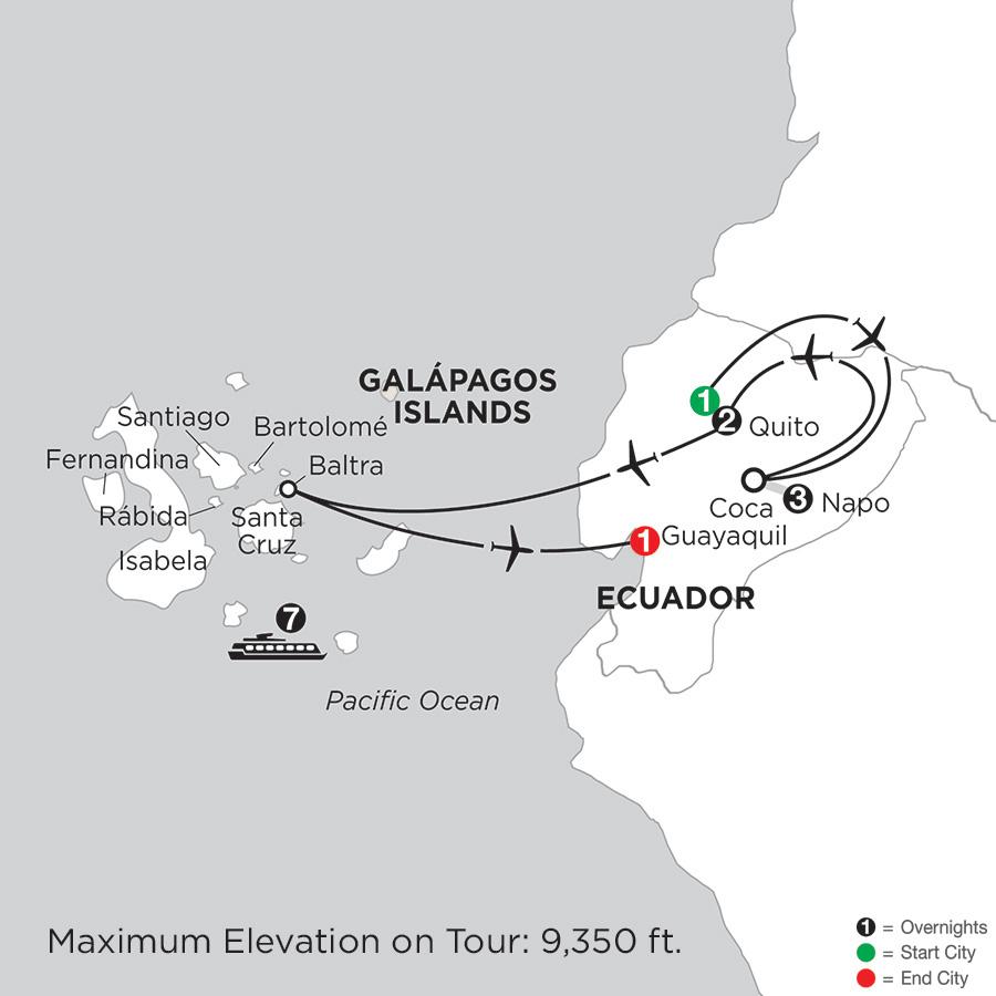 Cruising the Galápagos on board the Coral I/II – 7-Night cruise with Ecuadors Amazon