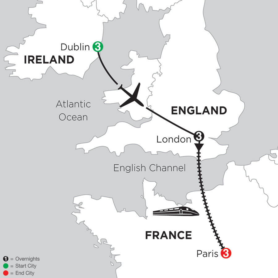 Train Travel In Ireland Map.Ireland Travel Packages Monograms Travel