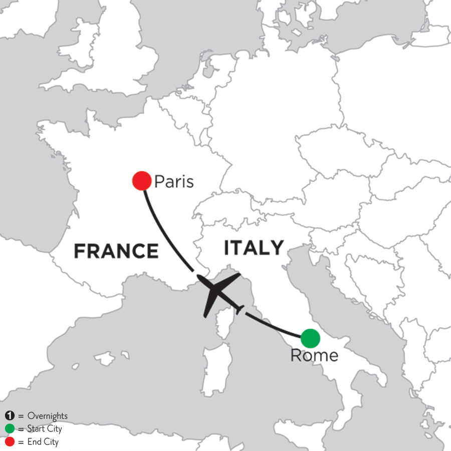 3 Nights Rome & 5 Nights Paris