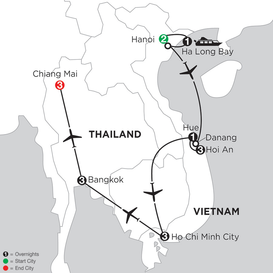 Enchanting Vietnam with Bangkok & Chiang Mai