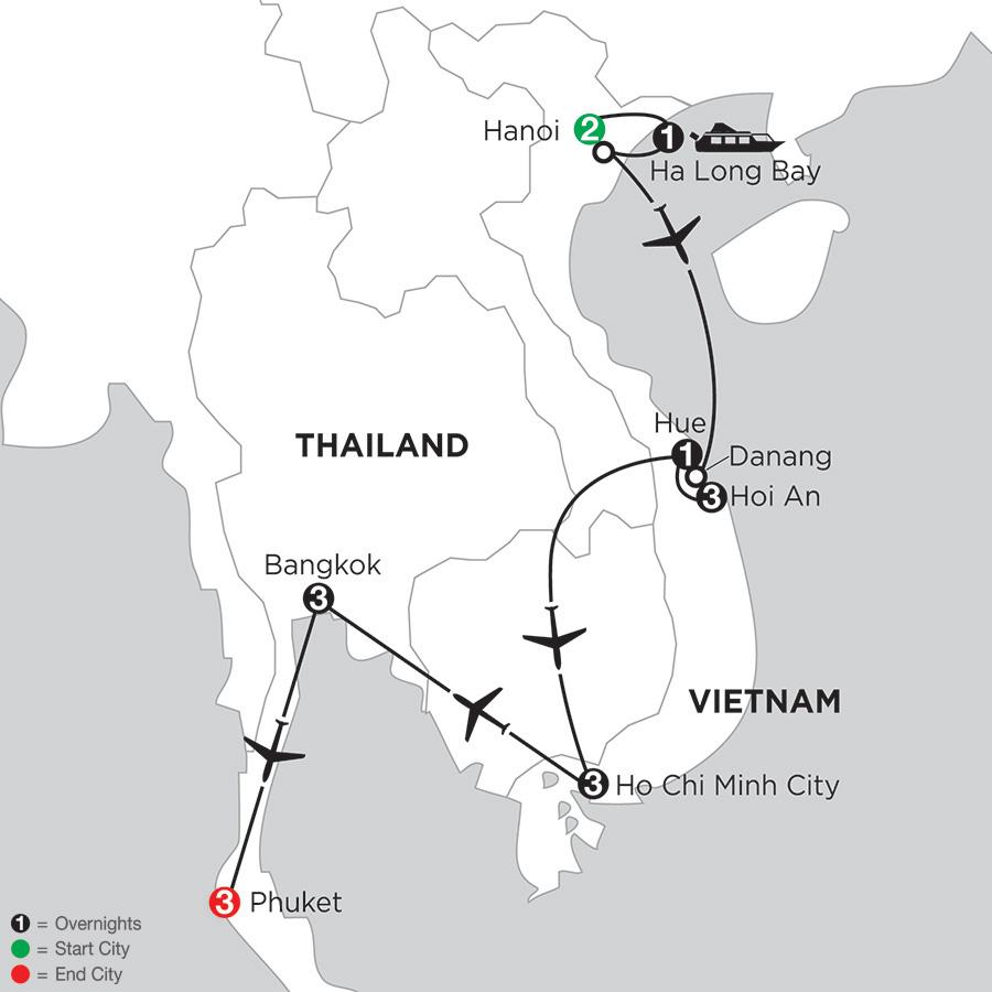 Enchanting Vietnam with Bangkok & Phuket