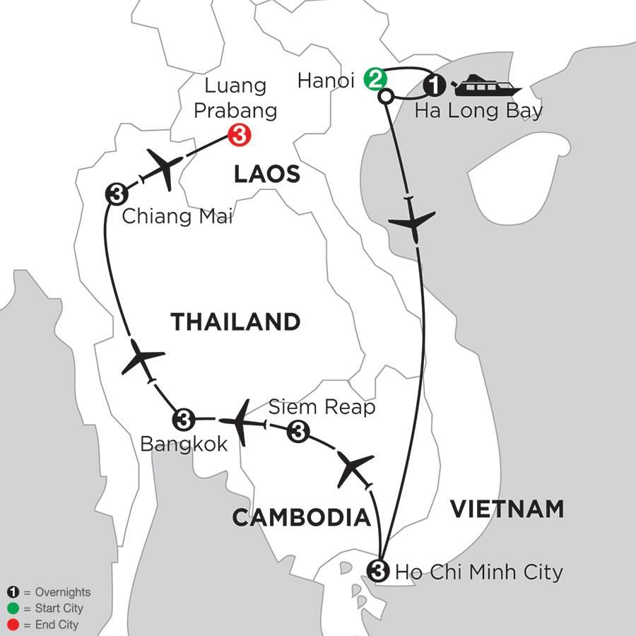 Sensational Southeast Asia with Chiang Mai & Luang Prabang