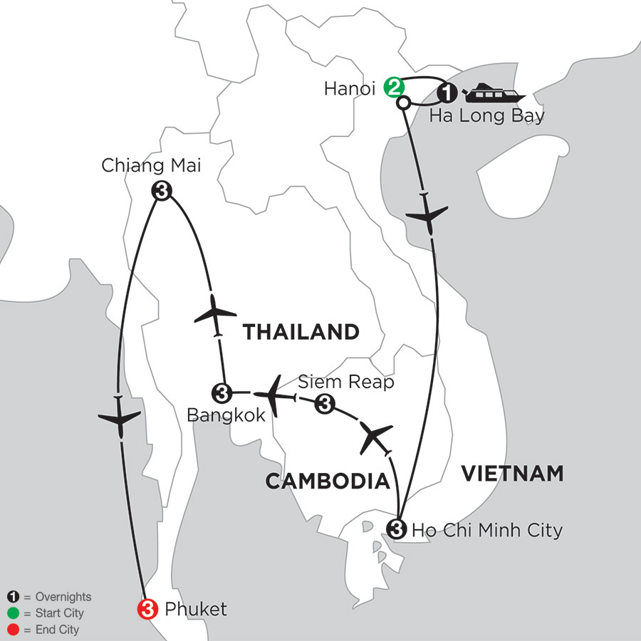 Sensational Southeast Asia with Chiang Mai & Phuket