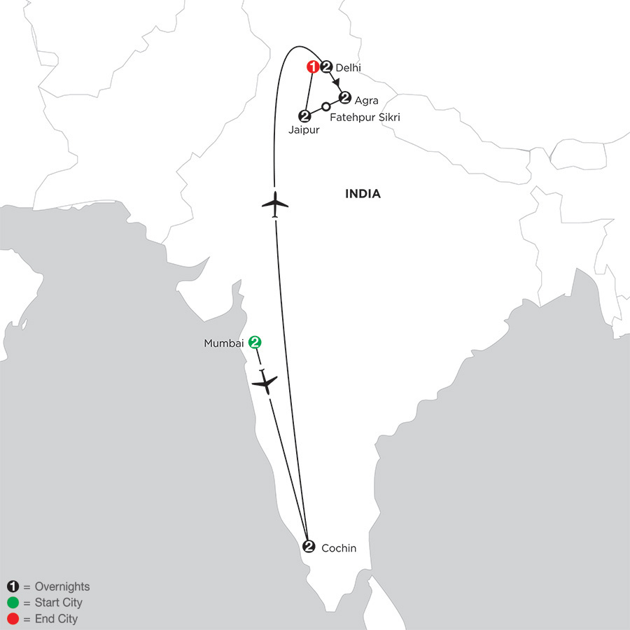 Indias Golden Triangle with Southern India