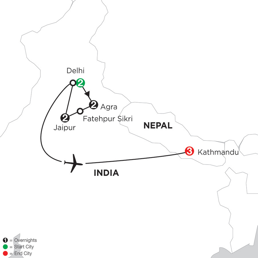 Indias Golden Triangle with Kathmandu