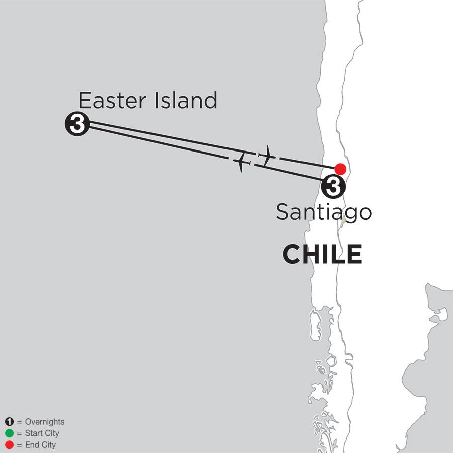 Santiago Getaway with Easter Island