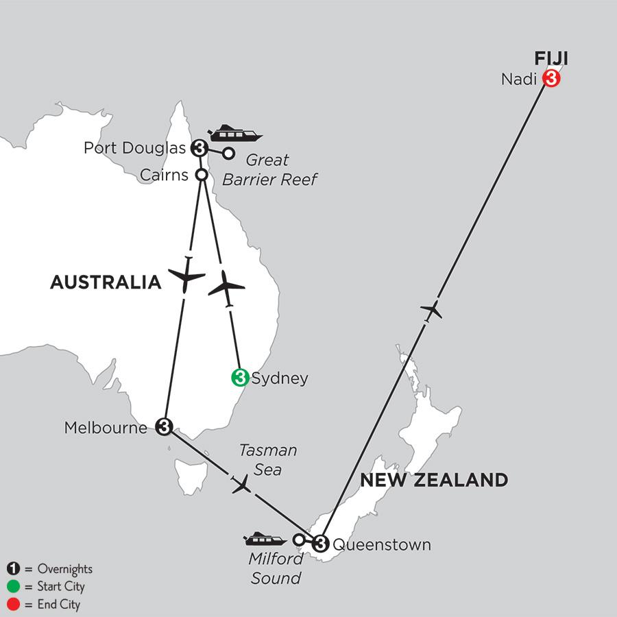 Australian Explorer with Queenstown & Fiji
