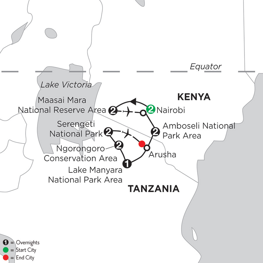 East Africa Private Safari with Nairobi