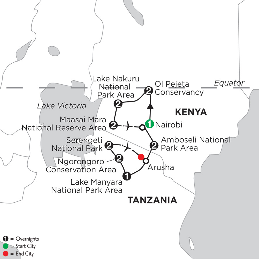 East Africa Private Safari with Ol Pejeta Conservancy & Lake Nakuru National Park Area