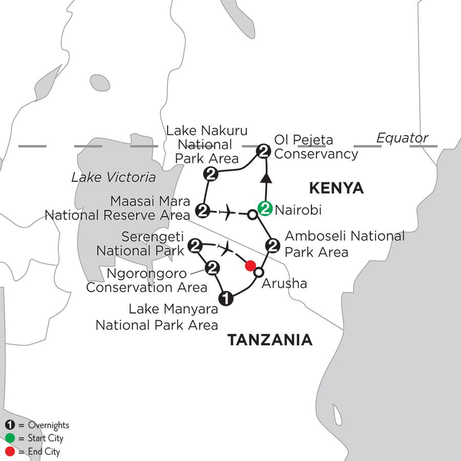East Africa Private Safari with Nairobi, Ol Pejeta Conservancy & Lake Nakuru National Park Area