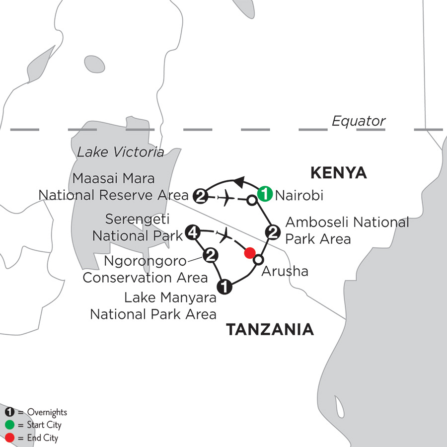 East Africa Private Safari with Serengeti Extended Stay