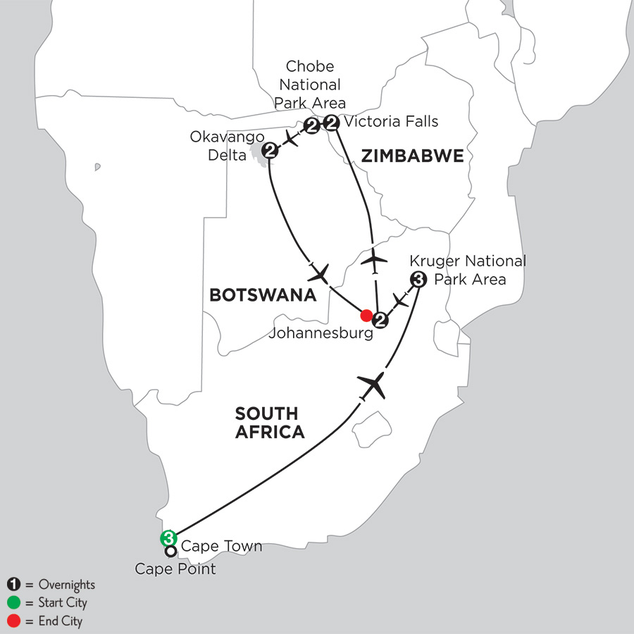 Map Of Africa Victoria Falls.Botswana Victoria Falls Travel Monograms