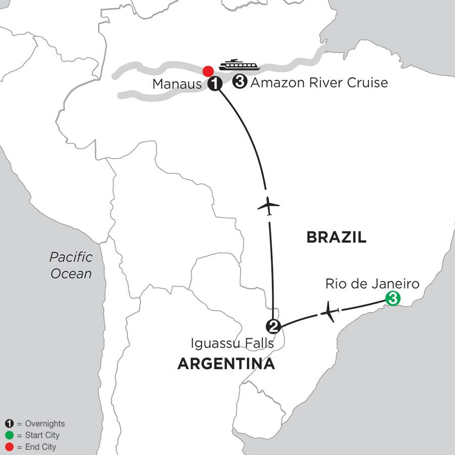 Amazonia Voyage with Rio & Iguassu