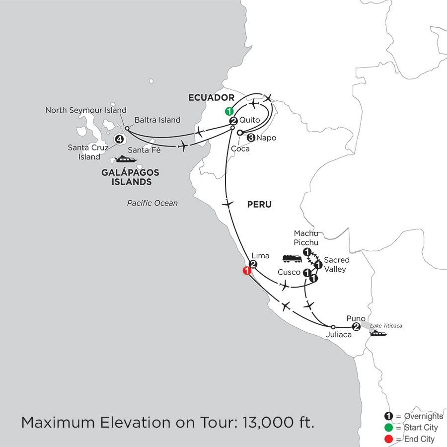 Galápagos Highlights & Peru with Ecuadors Amazon & Lake Titicaca