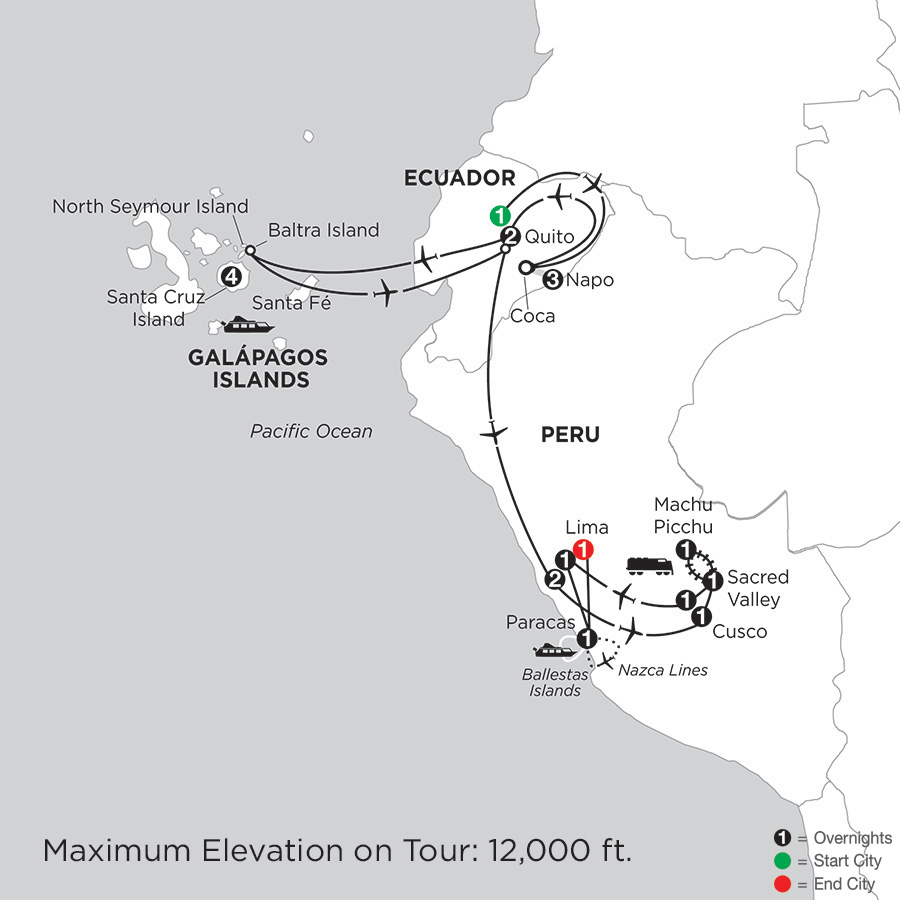 monograms vacations  gal u00e1pagos highlights and peru with ecuadors amazon and nazca lines