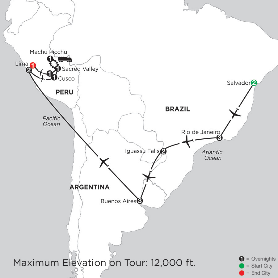 Grand Tour of South America with Salvador