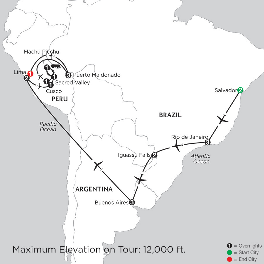 Grand Tour of South America with Salvador & Perus Amazon