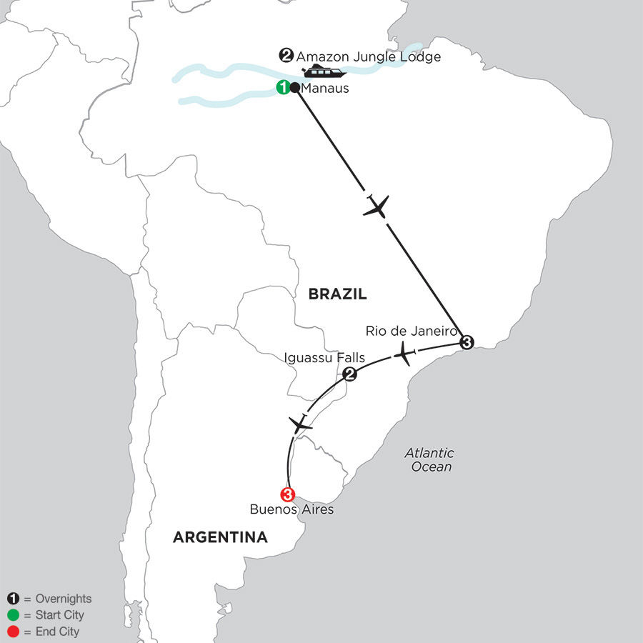 South American Selection with Brazils Amazon