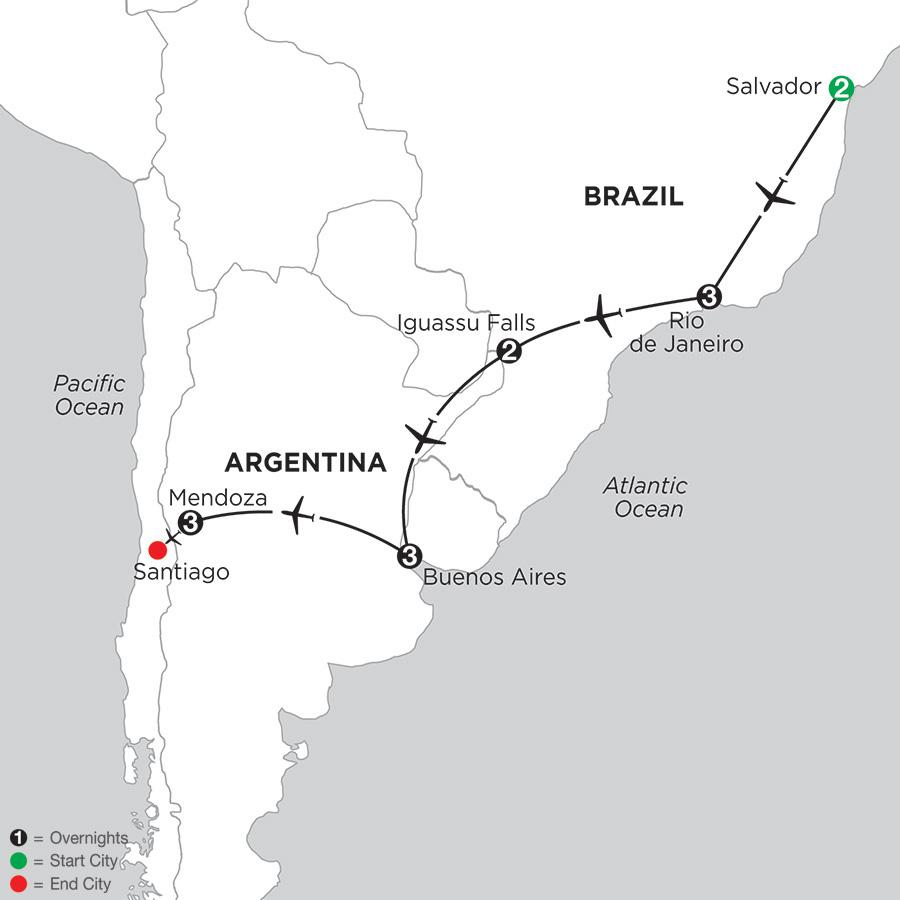 South American Selection with Salvador & Mendoza