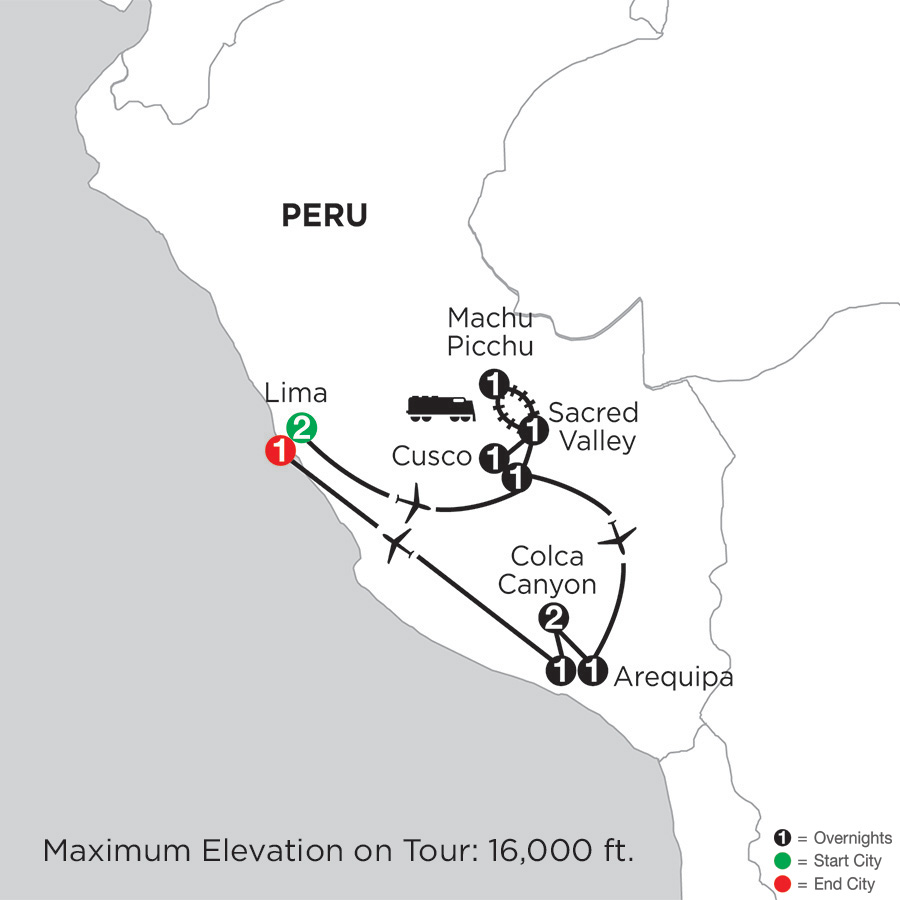 Peru Highlights with Arequipa & Colca Canyon