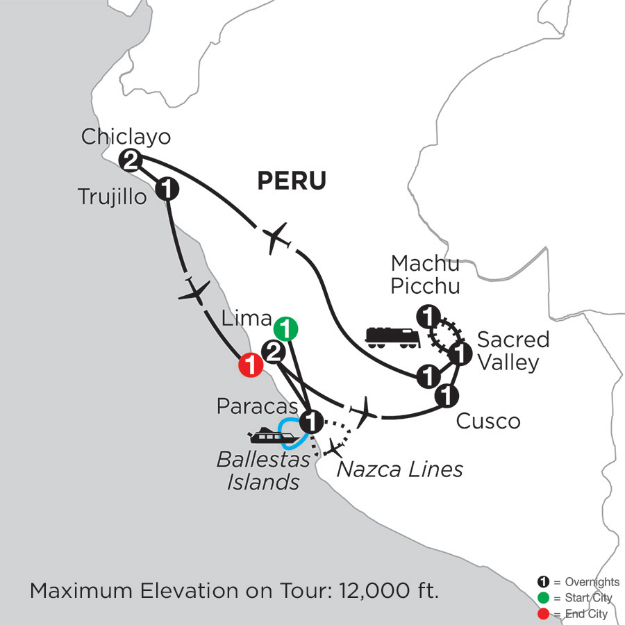 Peru Highlights with Nazca Lines, Chiclayo & Trujillo
